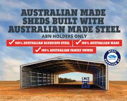 Australian made shed sale
